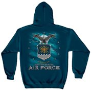 Air Force USAF Missile Hooded Sweatshirt by , Navy Blue, XL