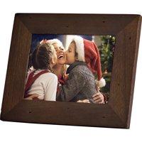 Refurbished Polaroid 8 Digital Photo Frame Candlenut Distressed Wood Frame