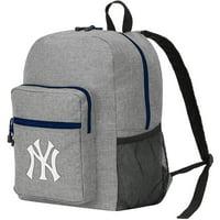 "MLB New York Yankees ""Daybreak"" Backpack, 17"" x 7.5"" x 12.5"" - Heathered Grey"