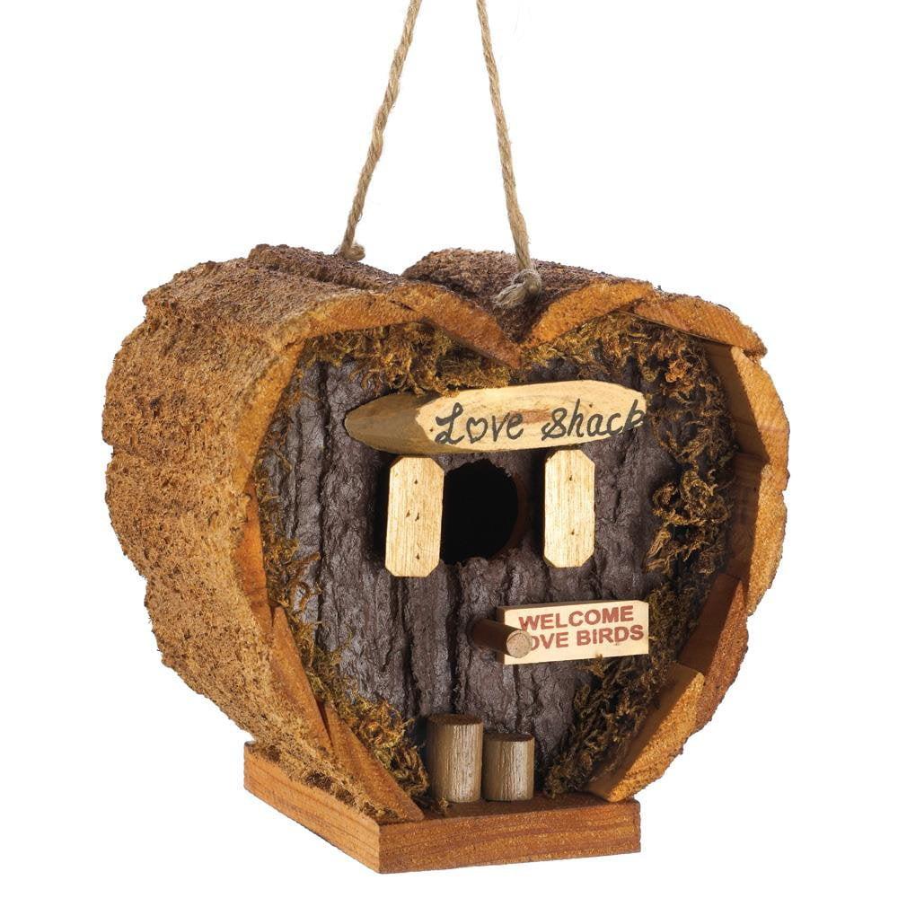 Woodpecker Birdhouse, Love Shack Modern Outdoor Bluejay Finch Wren Birdhouse