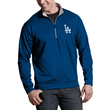 Los Angeles Dodgers Antigua Leader Quarter-Zip Pullover Jacket - Royal -