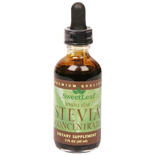 Sweetleaf Whole Leaf Liquid Stevia Concentrate Supplement, 2 fl oz
