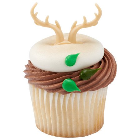 Deer Antler Cupcake Rings - 24 Count - 23848 - National Cake - Tinkerbell Cupcake Cake Walmart