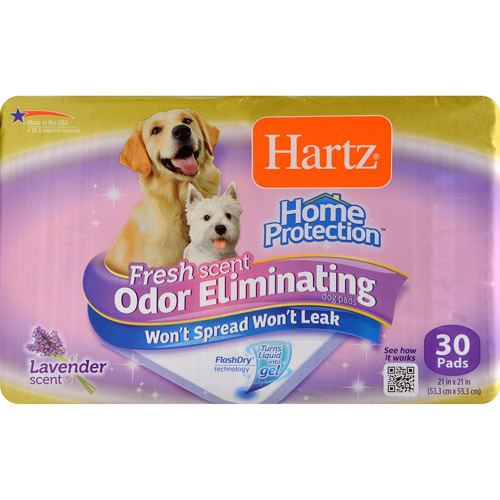 Hartz Home Protection Odor-Eliminating Dog Pads, 30 ct