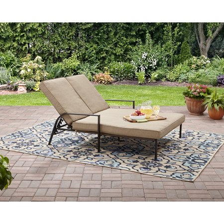 mainstays braddock heights ii double chaise lounge seats