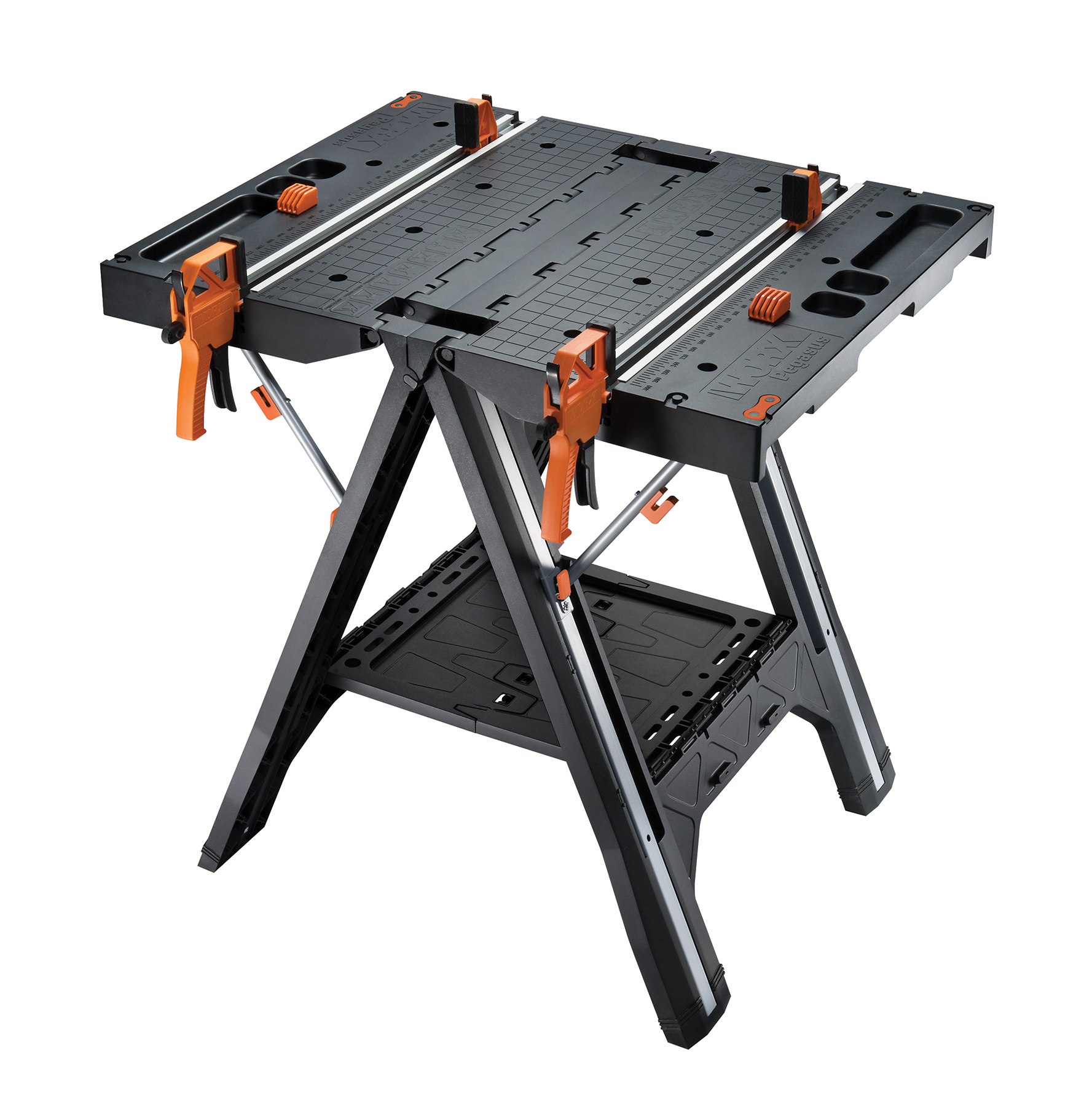 Worx Pegasus with (2) quick clamps and (4) clamp dogs