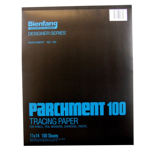SPEEDBALL ART PRODUCTS 240230 BIENFANG 100 PARCHMENT TRACING PAD 24LB 100SH 11X14