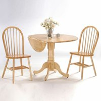 "42"" Dual Drop Leaf Table with 2 Windsor Chairs, Multiple Finishes by Windsor Chairs"