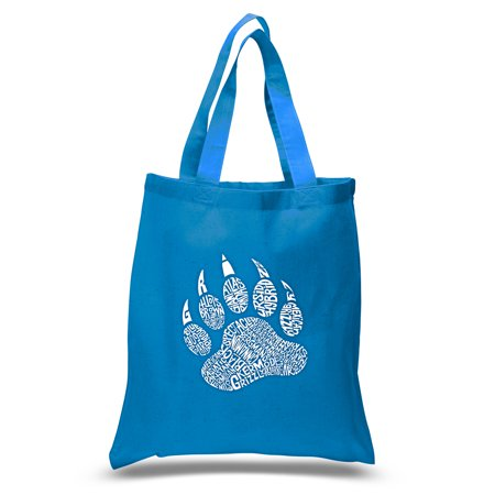 LA Pop Art Small Word Art Tote Bag - Types of Bears