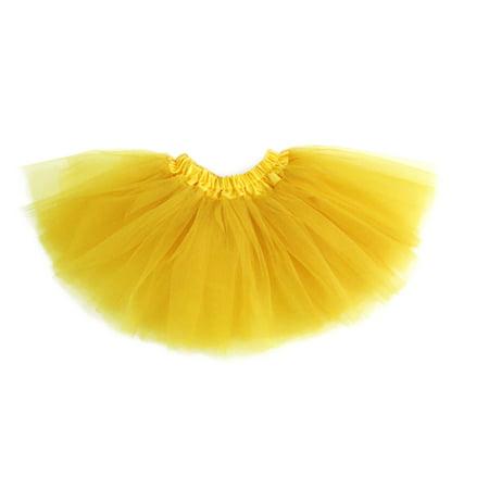 GOGO TEAM Girl's Tutu Skirt Ballet Dance Skirt Party Fairy Costume Skirt-Yellow](Tutu Fairy Costumes)
