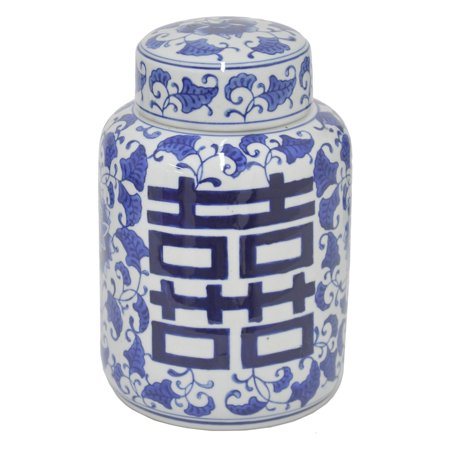 - Three Hands Cylindrical Oriental Ceramic Jar