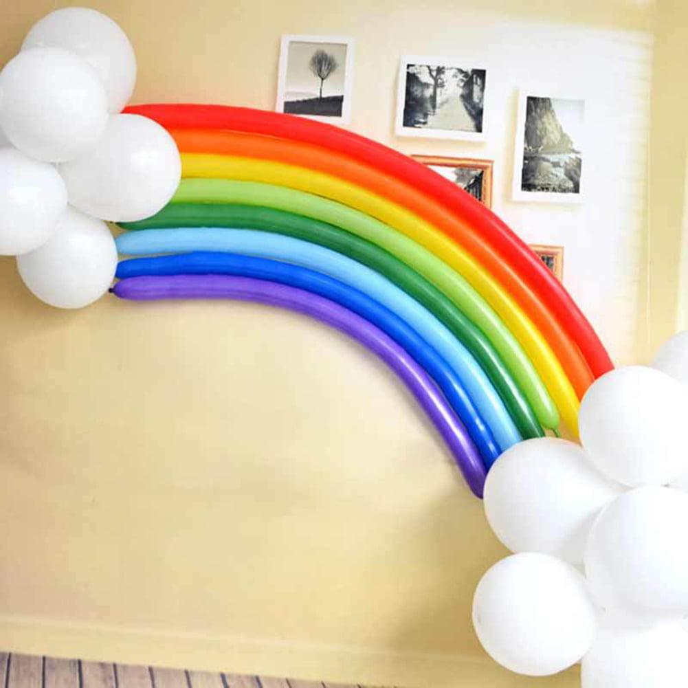 Directer 25Pcs DIY Rainbow Latex Balloon Wedding Birthday Party Decor Supplies Home