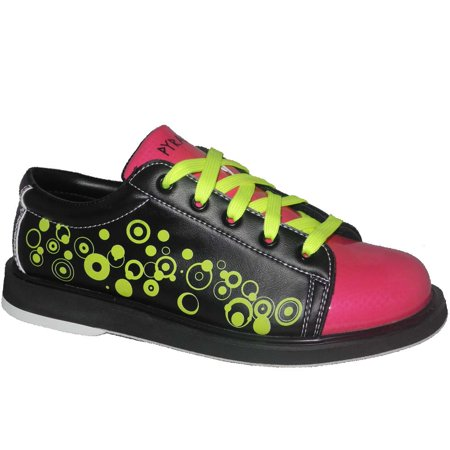 Pyramid Women's Rain Black/Hot Pink/Lime Green Bowling Shoes