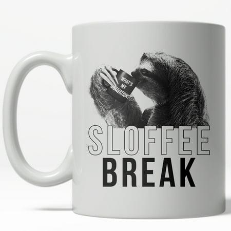 Sloffee Break Mug Funny Sloth Zoo Animal Coffee Cup - 11oz ()