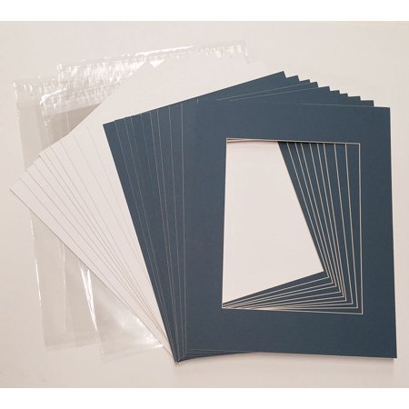 12x16 White Picture Mats with White Core for 8x10 Pictures - Fits 12x16 Frame Frame Purple Lens