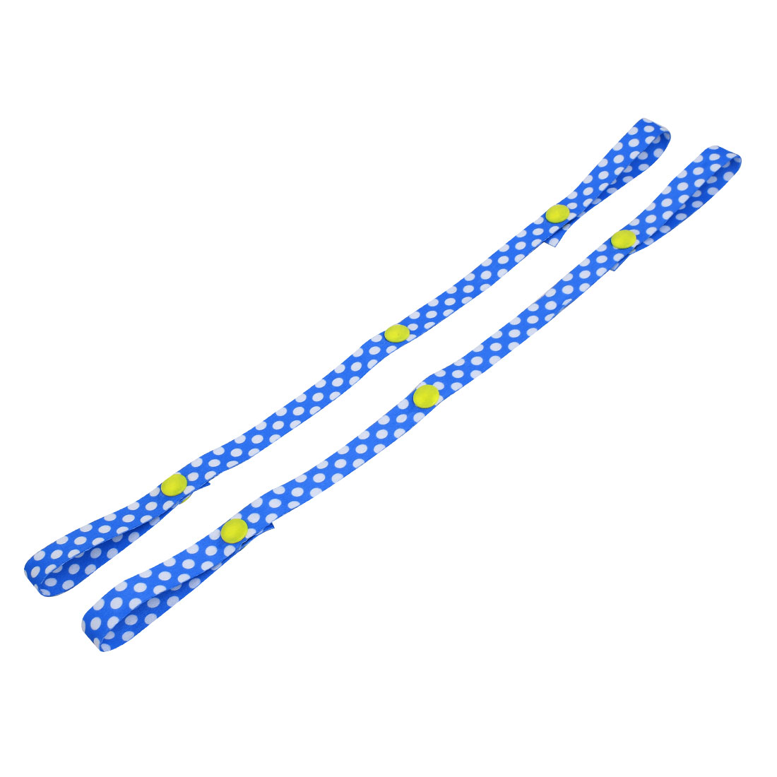 400mm 16-inch Long 15mm Width Polyester Dots Pattern Bottle Cup Strap Blue 2pcs