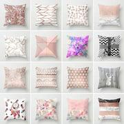Visland Decorative Throw Pillow Case Geometric Striped Flower Home Sofa Cushion Cover