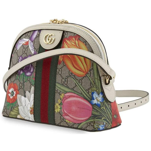 Gucci Ladies Ophidia GG Flora Shoulder Bag