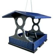 JCs Wildlife Medium Blue/Gray Poly Fly-Thru Bird Feeder w/ Removable Seed Tray