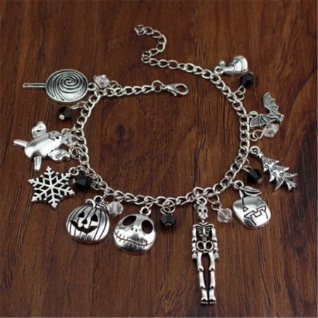 Christmas Bracelets (The Nightmare Before Christmas Jack Skellington Sally Gothic Bracelet)