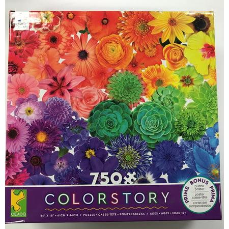 Ceaco 750pc Flower Power Color Story Puzzle