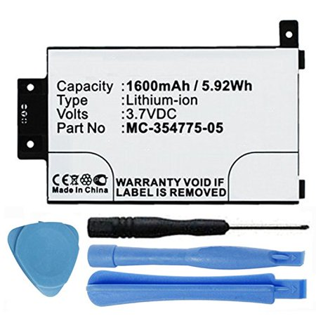 1600mAh Replacement 58-000049, MC-354775-05, S13-R1-D, S13-R1-S Battery for 2013 2nd Generation Amazon Kindle Paperwhite DP75SDI 6
