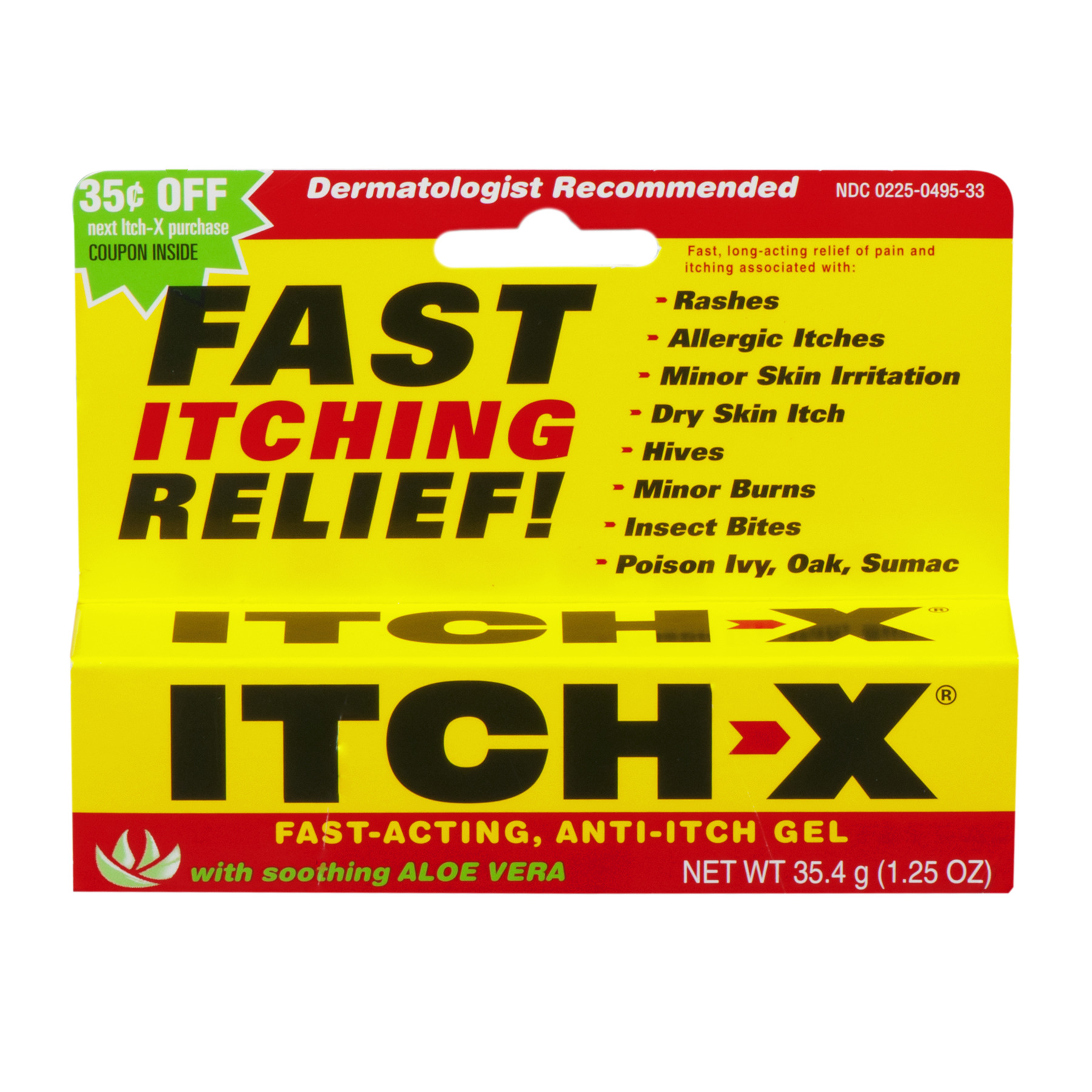 Itch-X Fast-Acting Anti-Itch Gel, 1.25 Oz
