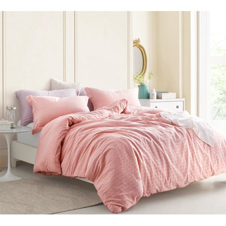 Highlands Coral Pink - Oversized Duvet Cover - 100% Yarn Dyed Cotton Bedding ()