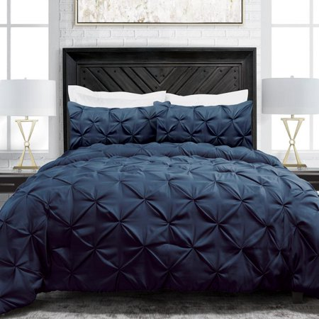 Noble Linen's 3 Piece Pinch Pleat Comforter Set ()