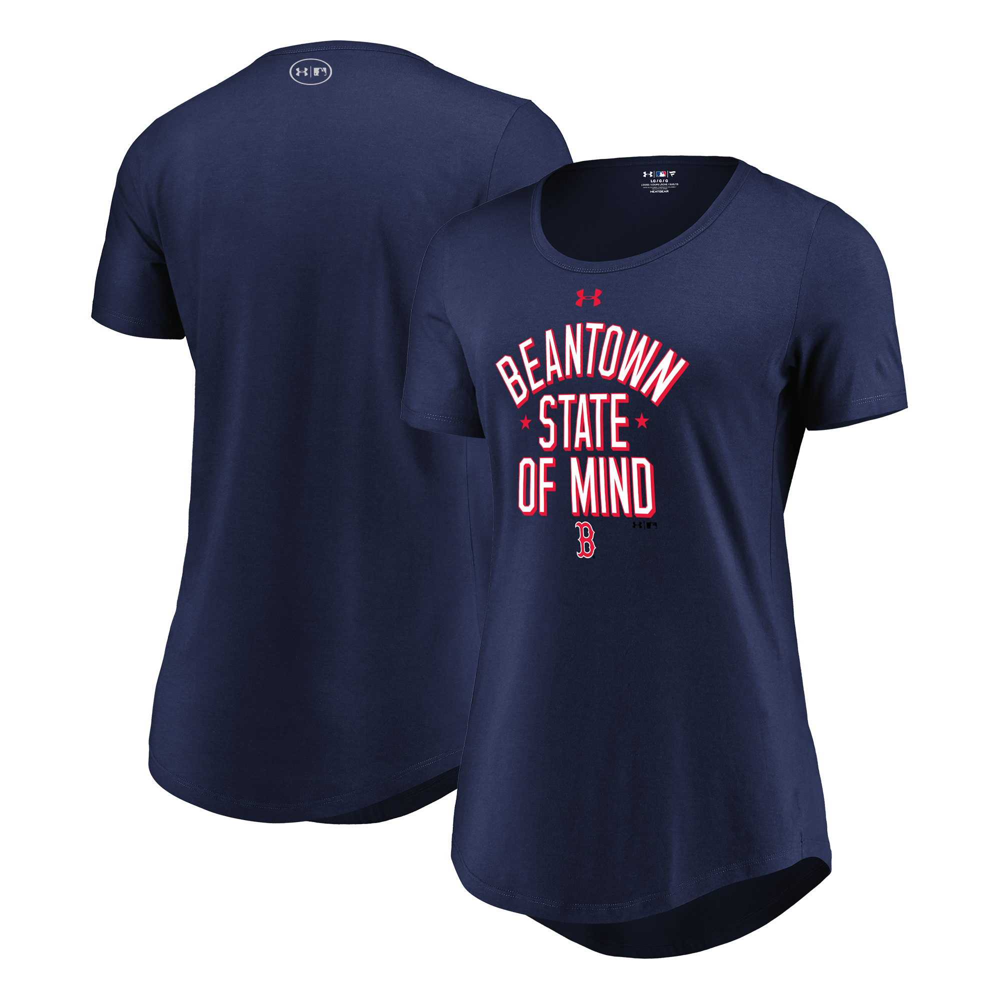 Boston Red Sox Under Armour Women's Passion State of Mind Performance Tri-Blend T-Shirt - Navy