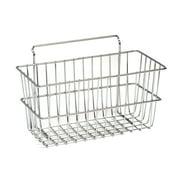 NeXtrac Wire Slatwall Basket for Merchandising, 12'L x 6'W x 6'D, Chrome
