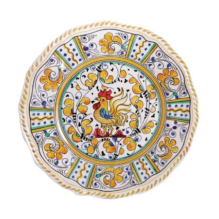 "Rooster Dinner Plate, 11"", Yellow, Made from Melamine By Le Cadeaux"