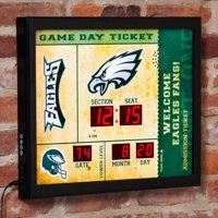 Detroit Lions Clock 14x19 Scoreboard Bluetooth