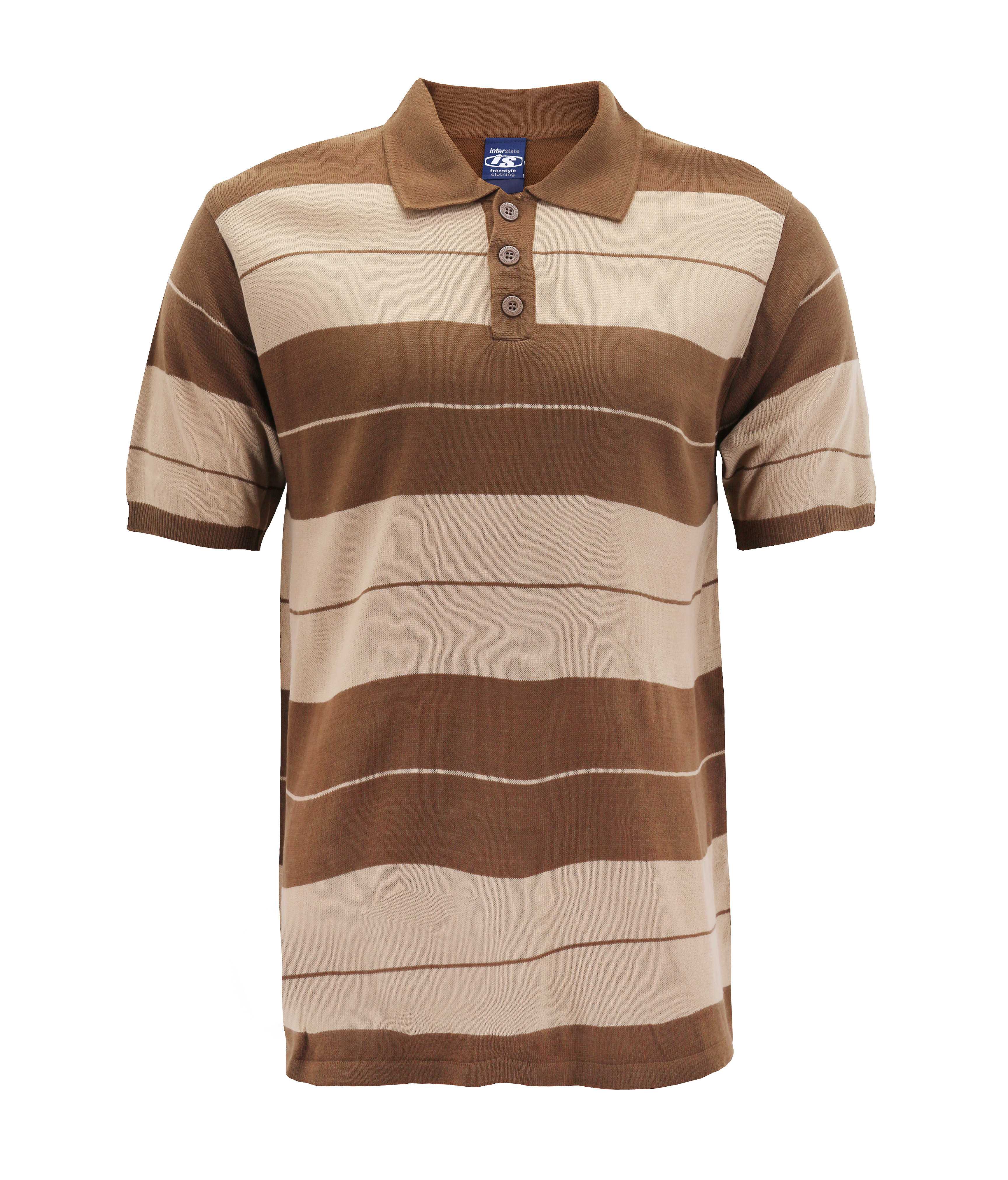 Men's Knitted Charlie Brown Striped Ribbed Short Sleeve ...