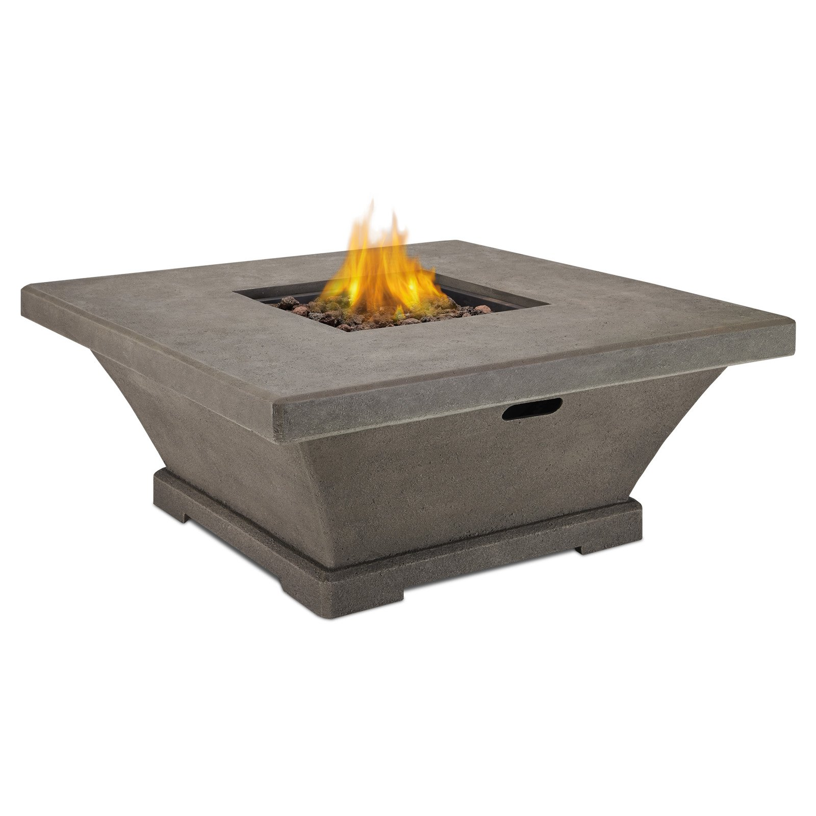 Real Flame Monaco Low Height Square LP Gas Fire Table wit...