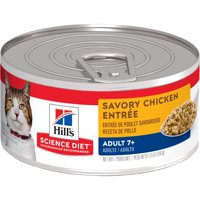 (24 Pack) Hill's Science Diet Adult 7+ Savory Wet Cat Food, 5.5 oz. cans