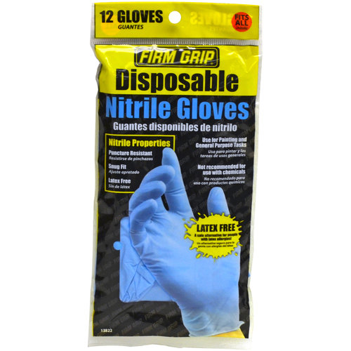 Firm Grip Disposable Nitrile Gloves, 12ct