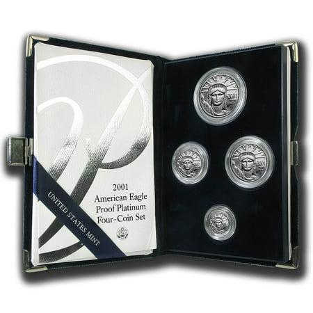 2001-W 4-Coin Proof Platinum American Eagle Set (w/Box & COA)