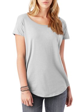 Ma Croix Womens Scoop Neck Longline Tee Round Bottom T Short Sleeve Modal Shirts