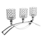 Nomeni Three Crystal Candlestick Wedding/Festival/Plot Man Gift Ornament Silver Silver