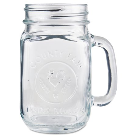 Libbey Clear Glass Drinking Jars, 16.5 oz, (Pack of 12) - Custom Drinking Glasses