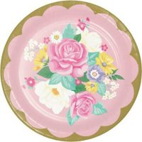 1PK Floral Tea Party 9-inch Plates ,Item per pack: 8per pack