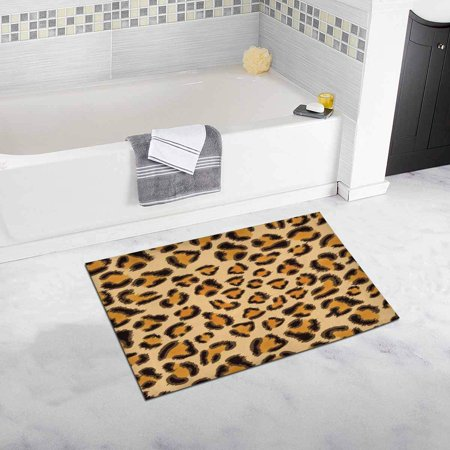 CADecor Leopard Country House Image for Your Design Plush Bathroom Decor Rug Mat , Doormat 30x18 inches ()