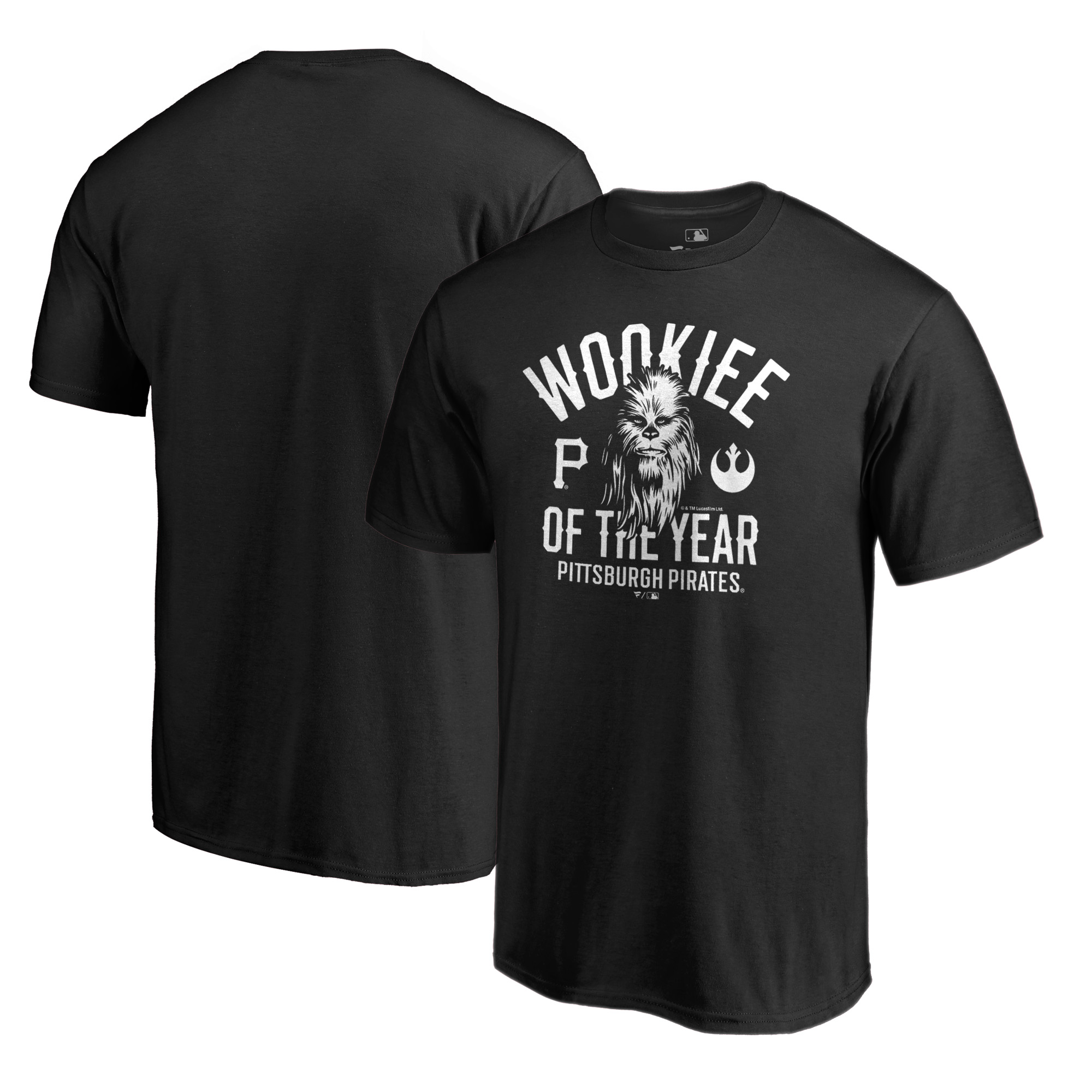 Pittsburgh Pirates Fanatics Branded Star Wars Wookiee Of The Year T-Shirt - Black