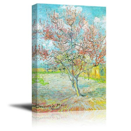 Famous Art Reproductions - wall26 Flowering Peach TreesFlowering Orchards by Vincent Van Gogh - Canvas Print Wall Art Famous Oil Painting Reproduction - 12