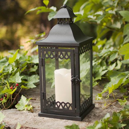 Table decor metal candle lantern lattice pattern 5 5 x 10 for Al ahram aluminium decoration