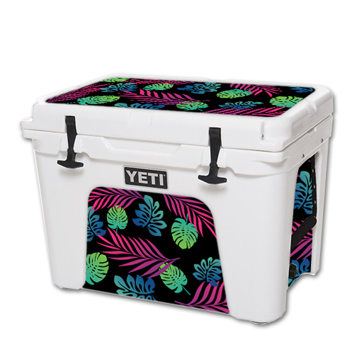 MightySkins Protective Vinyl Skin Decal for YETI Tundra 50 qt Cooler wrap cover sticker skins Neon Tropics