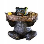 Gift Craft Polystone Bear Bird Bath
