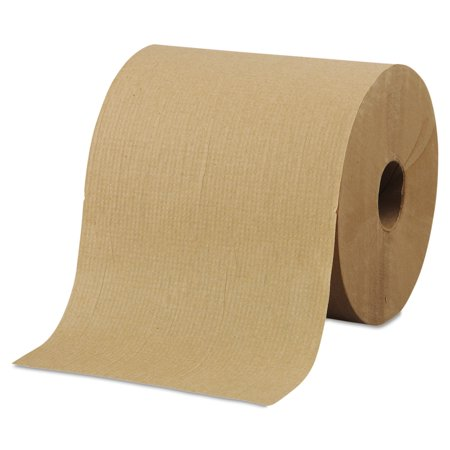 "Morcon Paper Hardwound Roll Towels, 8"" x 800ft, Brown, 6 Rolls/Carton -MORR6800"