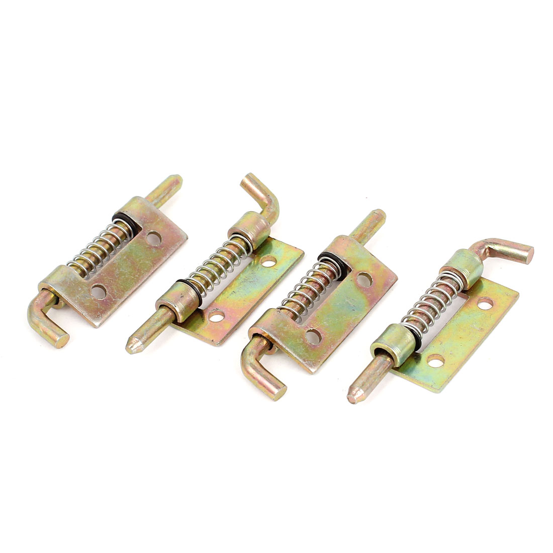 4pcs Cabinet Door Hinges Spring Loaded Metal Left Barrel Bolt Latch 54mm Long